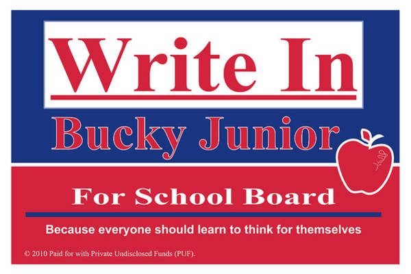 Wall Art - Digital Art - Bucky Junior For School Board by Donna Zoll