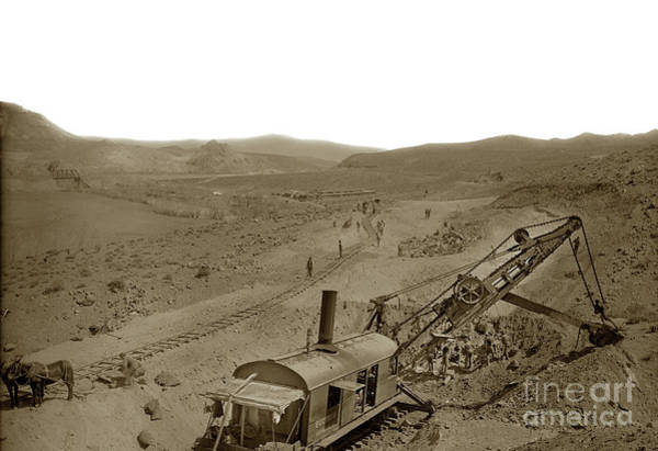 Photograph - Bucyrus Rail Mounted Shovel At Work,  Circa 1915,  by California Views Archives Mr Pat Hathaway Archives