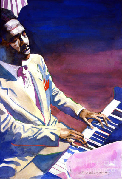 Piano Player Painting - Bud Powell Piano Bebop Jazz by David Lloyd Glover