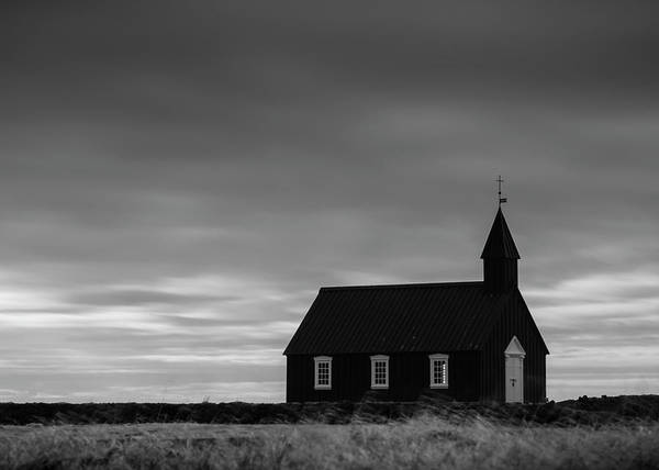 Budakirkja, The Black Church In Iceland Art Print