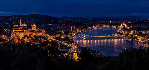 Donau Photograph - Budapest At Night by Jaroslaw Blaminsky