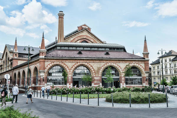 Photograph - Budapest Central Market Exterior by Sharon Popek