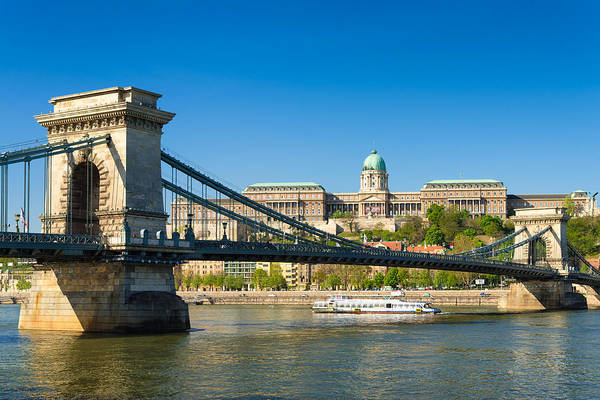 Photograph - Budapest Chain Bridge And Buda Palace by Matthias Hauser