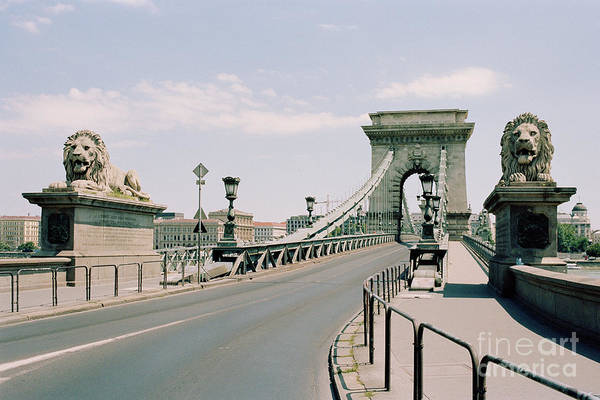 Donau Photograph - Budapest Chain Bridge by Dean Harte