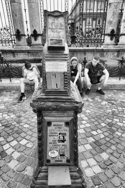 Photograph - Budapest Cityscope Black And White by Sharon Popek