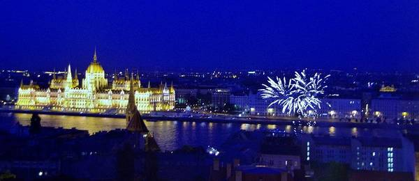 Photograph - Budapest Fireworks 5/16 by Phyllis Spoor