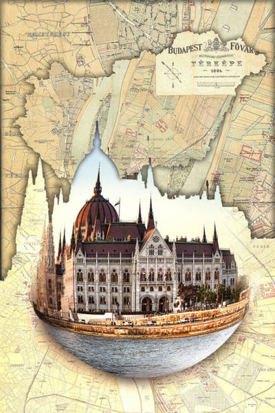 Photograph - Budapest Globe Map by Sharon Popek
