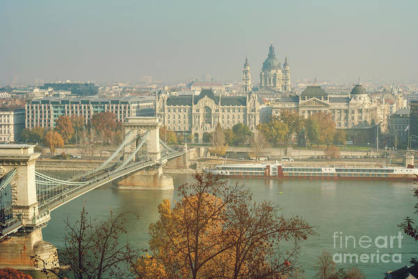 Chain Bridge Photograph - Budapest, Hungary by Jelena Jovanovic