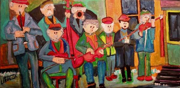 Klezmer Band Wall Art - Painting - Budapest Klezmer Band by Michael Litvack