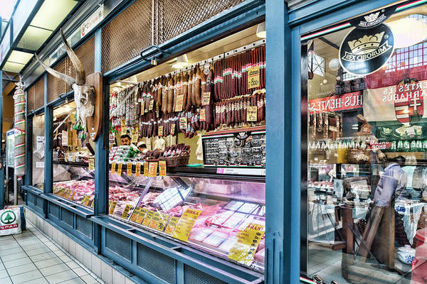 Photograph - Budapest Meat Vendor by Sharon Popek