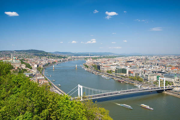 Photograph - Budapest With Elisabeth Bridge Lovely View by Matthias Hauser