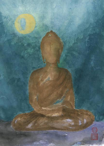 Wall Art - Painting - Buddha Abstract by Terri Harris