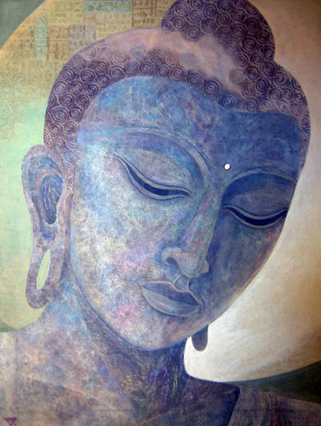 Wall Art - Painting - Buddha Alive In Stone by Jennifer Baird