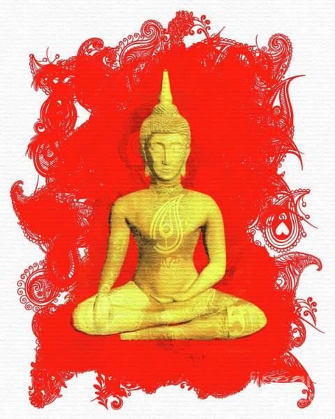 Esoteric Painting - Buddha Balance by Pierre Blanchard