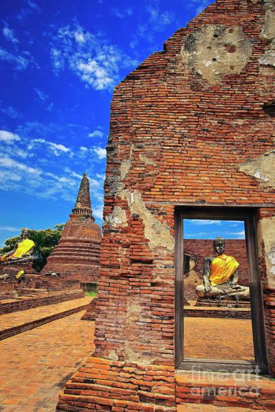 Photograph - Buddha Doorway At Wat Worachetha Ram In Ayutthaya, Thailand by Sam Antonio Photography