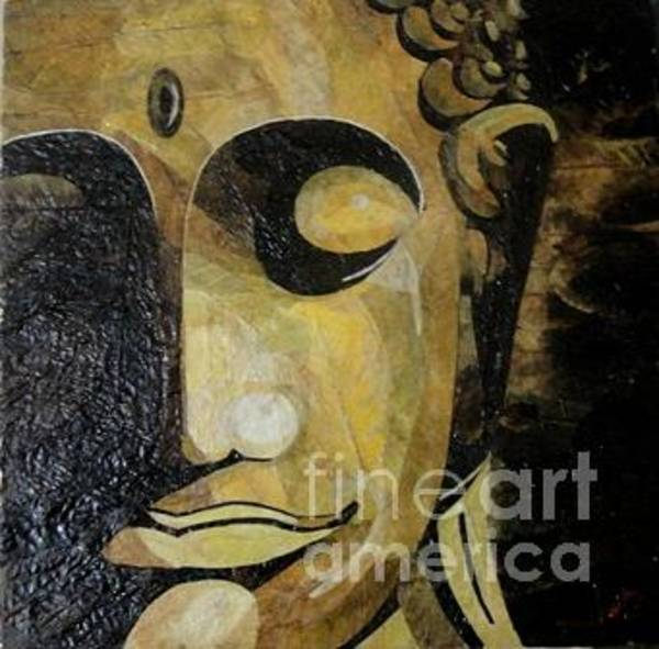 Wall Art - Painting - Buddha Face by Le Dac Trung