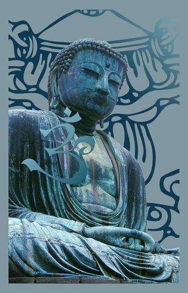 Digital Art - Buddha Great Statue by Robert G Kernodle
