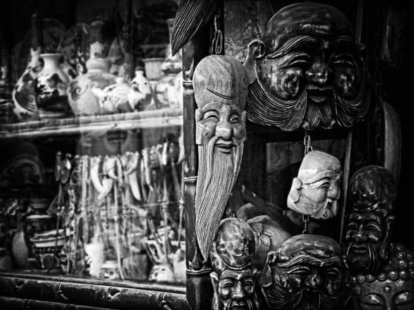 Photograph - Buddha Heads by Cameron Wood