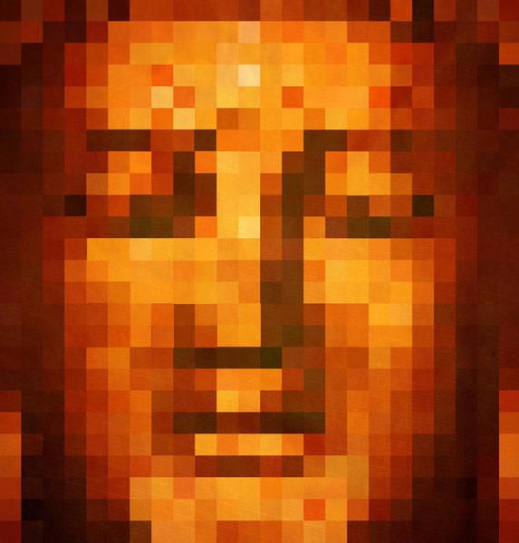 Gold Leaves Digital Art - Buddha by Art Spectrum