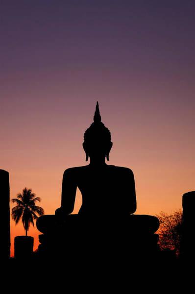 Photograph - Buddha Silhouette by Fabrizio Troiani