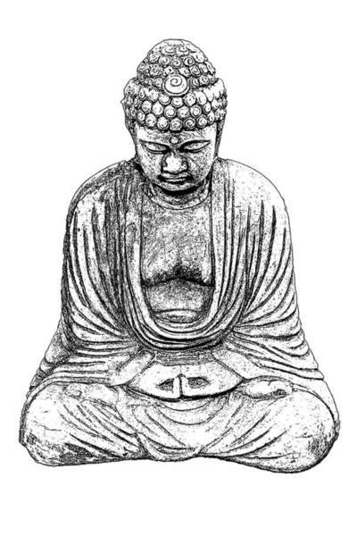 Photograph - Buddha Sketch by Jim Dollar
