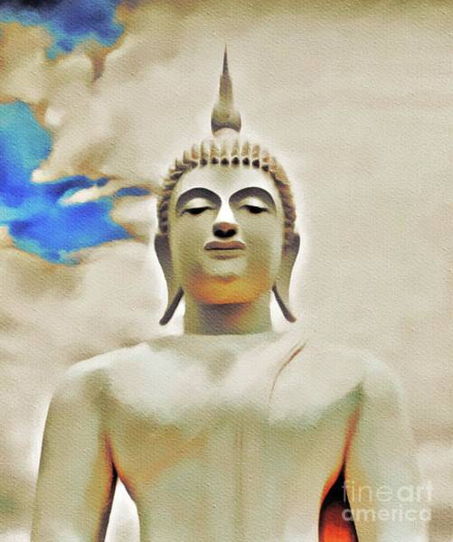 Esoteric Painting - Buddha Sky by Pierre Blanchard