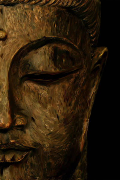 Serenity Prayer Digital Art - Buddha Statue by Ali Abdallah
