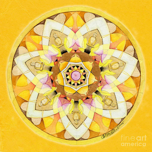 Painting - Buddha Sun Mandala by Jo Thomas Blaine