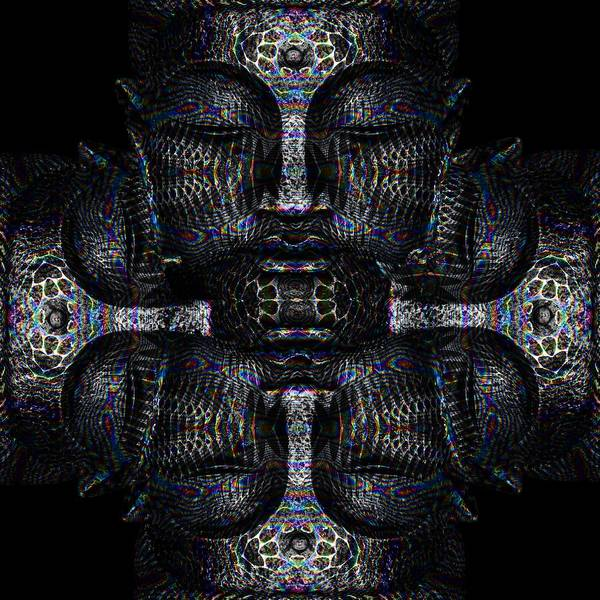 Serenity Prayer Digital Art - Buddhas Psylence by Shiva Designz