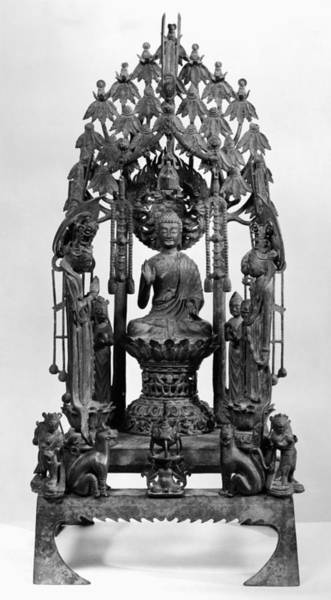 Photograph - Buddhist Altarpiece by Granger