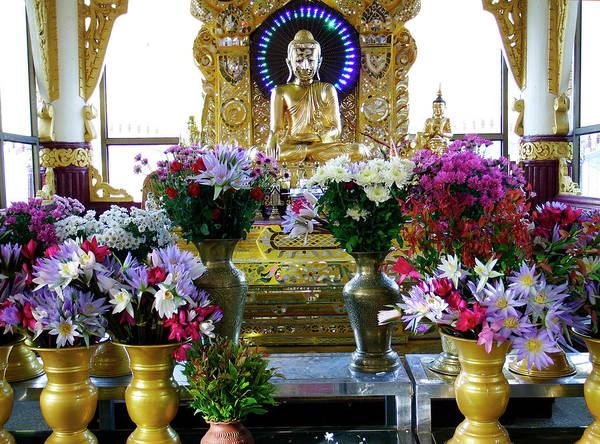Photograph - Buddhist Shrine At Kuthodaw Pagoda by Kurt Van Wagner