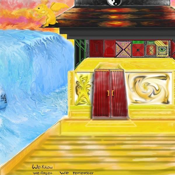 Gargoyle Digital Art - Buddhist Temple by Jake Updegrove