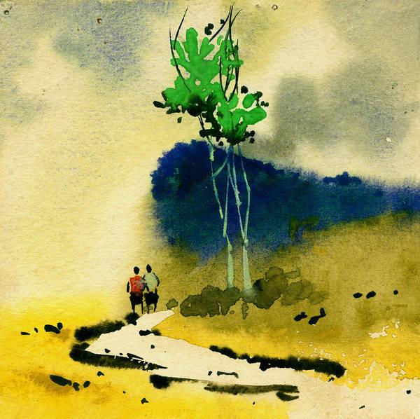 Painting - Buddies by Anil Nene