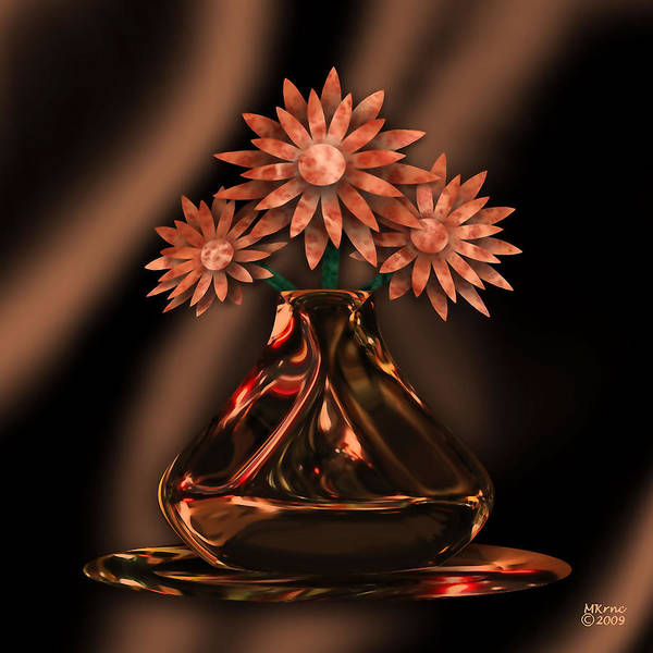 Peach Flower Wall Art - Digital Art - Buddies by Canyon Art Works