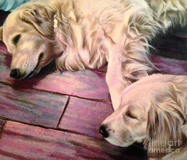 Golden Retriever Mixed Media - Buddies by Kelli Porter