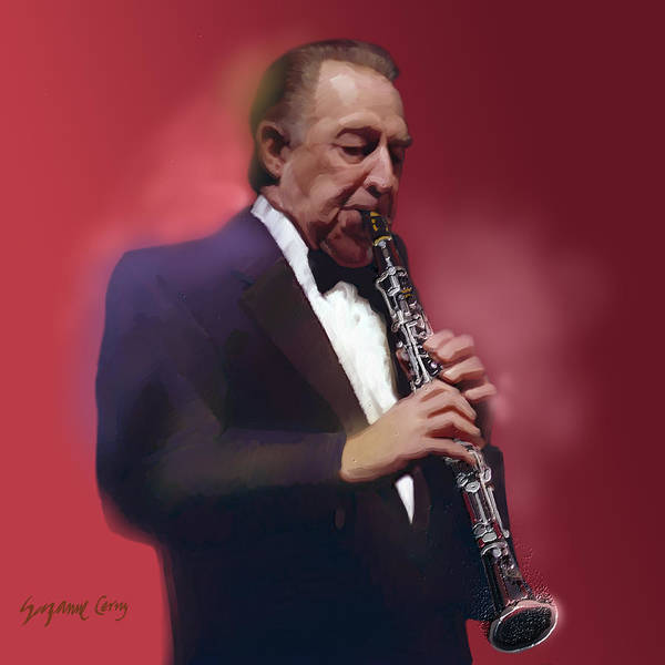 Digital Art - Buddy Defranco Clarinet by Suzanne Cerny