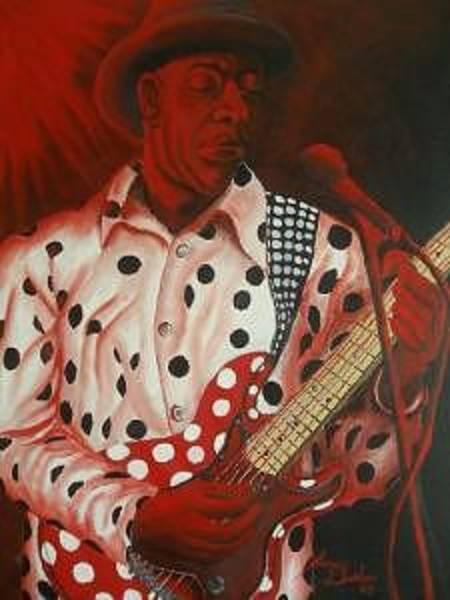 Wall Art - Painting - Buddy Guy In Concert by Dunbar's Modern Art