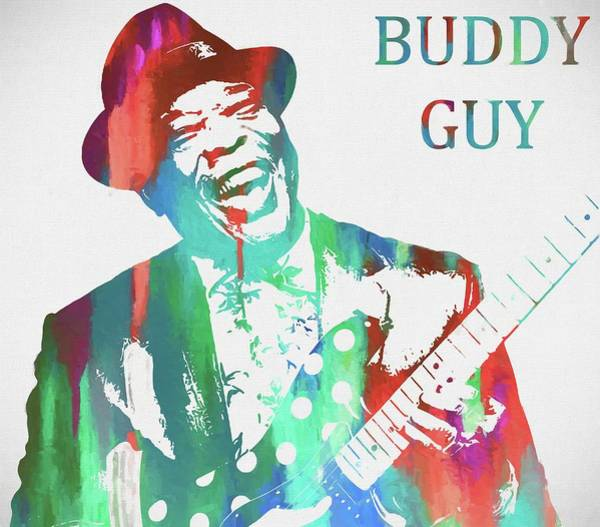 Wall Art - Painting - Buddy Guy Watercolor by Dan Sproul