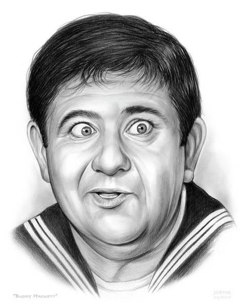 Drawing - Buddy Hackett by Greg Joens