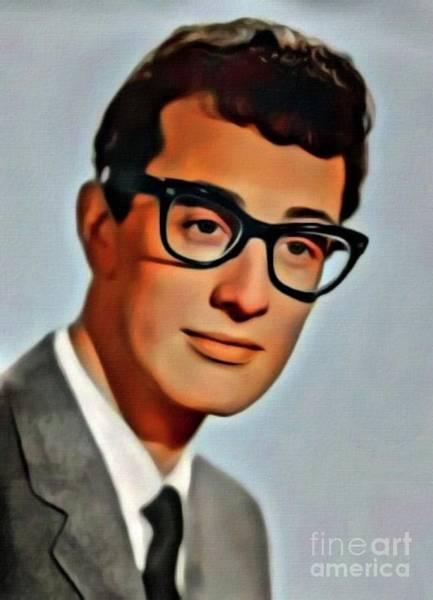 Twisted Digital Art - Buddy Holly, Music Legend. Digital Art By Mb by Mary Bassett