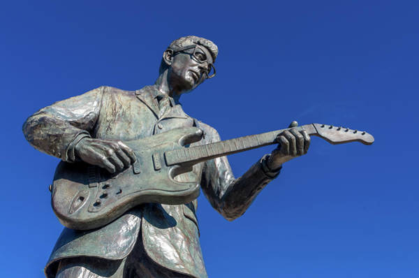 Photograph - Buddy Holly Statue by Adam Reinhart