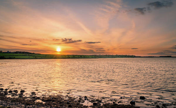 Preston Castle Photograph - Budle Bay Nature Reserve Sunset by Naylors Photography