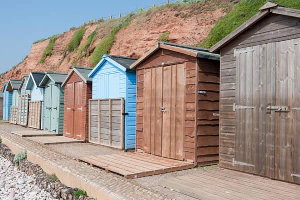 Photograph - Budleigh Salterton Beach Huts I by Helen Northcott