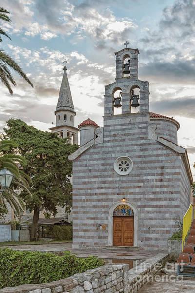 Stari Photograph - Budva Church Of Holy Trinity by Antony McAulay