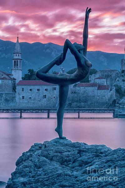Stari Photograph - Budva Little Gymnast Statue by Antony McAulay