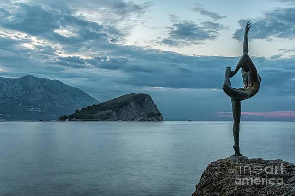 Stari Photograph - Budva Little Gymnast Statue At Sunrise by Antony McAulay