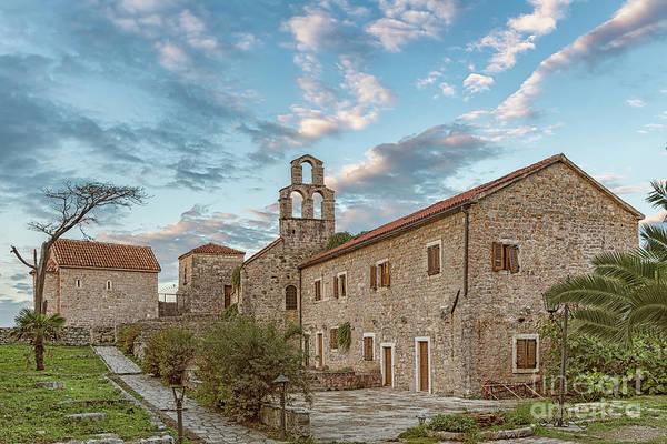 Stari Photograph - Budva Stari Grad Churches by Antony McAulay
