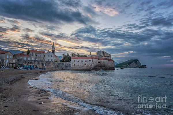 Stari Photograph - Budva Stari Grad Sunrise Glory by Antony McAulay