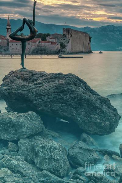 Stari Photograph - Budva Statue Near Stari Grad by Antony McAulay