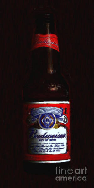 Wall Art - Photograph - Budweiser - King Of Beers by Wingsdomain Art and Photography